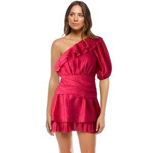 Aje BNWT Pink Elvrie Dress sz 8 AUS